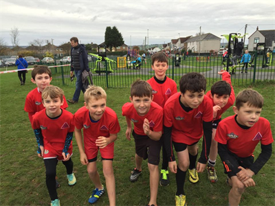 Lads Getting Ready for RVAC Junior Cross Country - November 2014