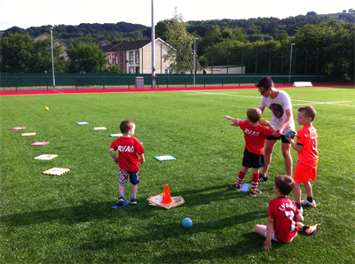 Older Athletes Helping Younger Athletes at Ystrad Centre of Excellence - June 2015